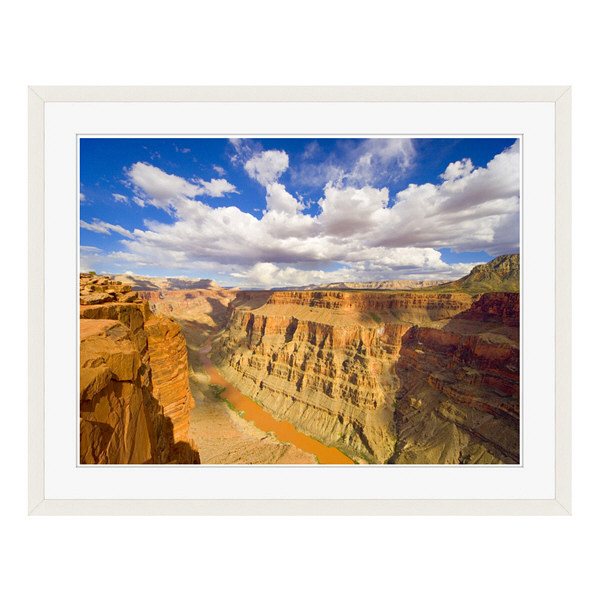 アートプリントジャパン 「Grand Canyon and Colorado River」 フレーム/L/ホワイト 1枚