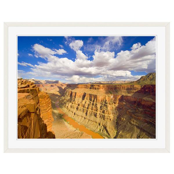 アートプリントジャパン 「Grand Canyon and Colorado River」 フレーム/XL/ホワイト 1枚