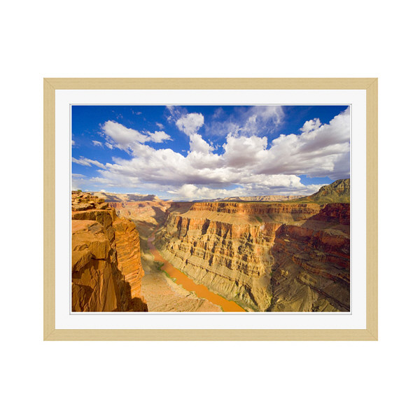 アートプリントジャパン 「Grand Canyon and Colorado River」 フレーム/M/木目 1枚
