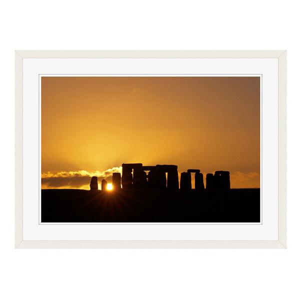 アートプリントジャパン 「Stonehenge at Sunset」 フレーム/L/ホワイト 1枚