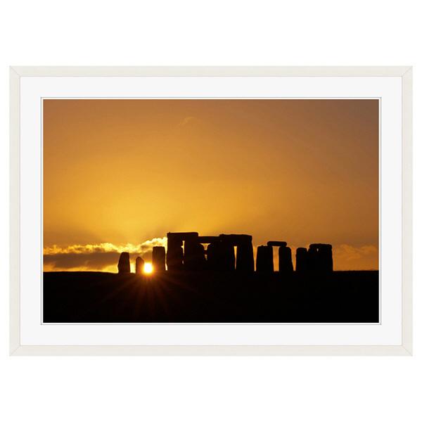 アートプリントジャパン 「Stonehenge at Sunset」 フレーム/XL/ホワイト 1枚