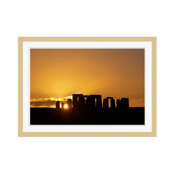 アートプリントジャパン 「Stonehenge at Sunset」 フレーム/M/木目 1枚