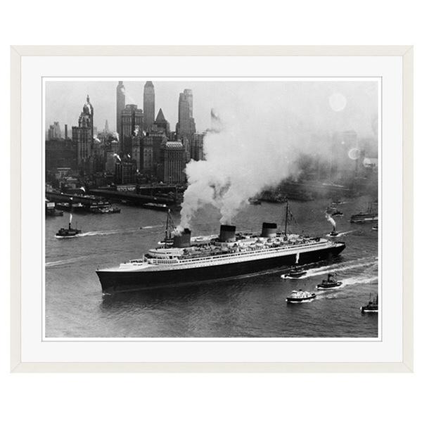 アートプリントジャパン 「ニューヨーク(1935年)」 フレーム/XL/ホワイト 1枚