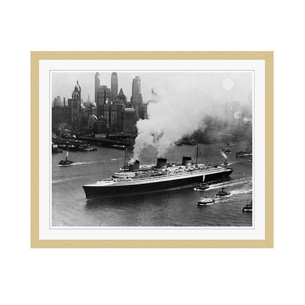 アートプリントジャパン 「ニューヨーク(1935年)」 フレーム/M/木目 1枚
