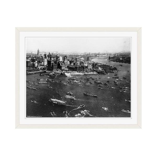アートプリントジャパン 「ニューヨーク(1927年)」 フレーム/M/ホワイト 1枚