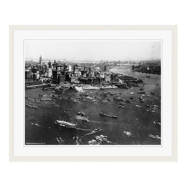 アートプリントジャパン 「ニューヨーク(1927年)」 フレーム/L/ホワイト 1枚
