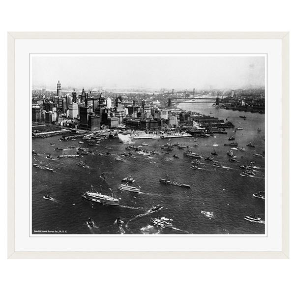 アートプリントジャパン 「ニューヨーク(1927年)」 フレーム/XL/ホワイト 1枚
