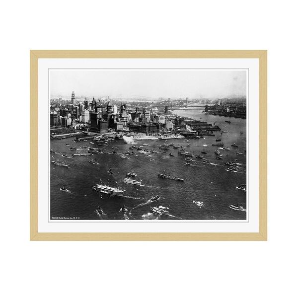 アートプリントジャパン 「ニューヨーク(1927年)」 フレーム/M/木目 1枚