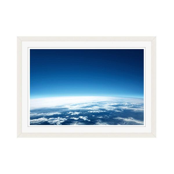 アートプリントジャパン 「青い地球」 フレーム/M/ホワイト 1枚