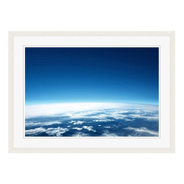 アートプリントジャパン 「青い地球」 フレーム/L/ホワイト 1枚