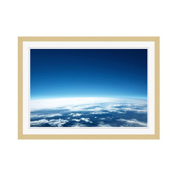 アートプリントジャパン 「青い地球」 フレーム/M/木目 1枚