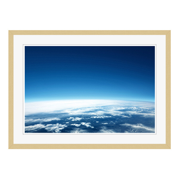 アートプリントジャパン 「青い地球」 フレーム/L/木目 1枚