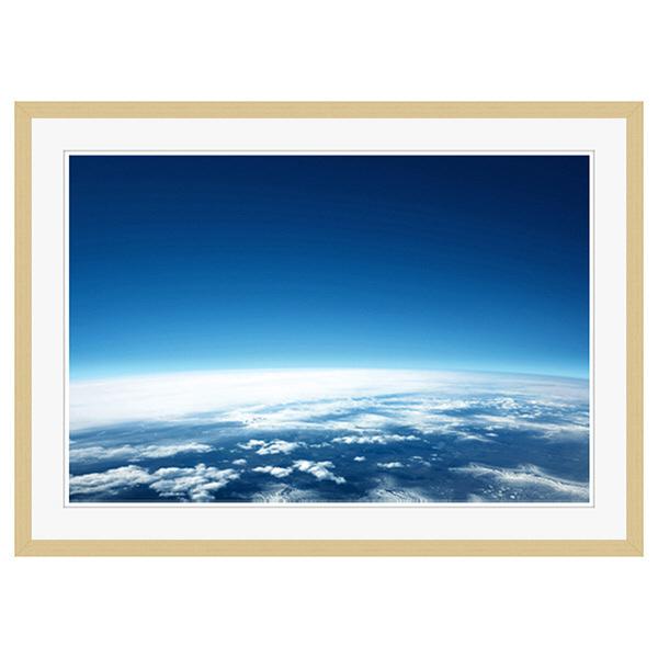 アートプリントジャパン 「青い地球」 フレーム/XL/木目 1枚