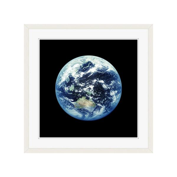 アートプリントジャパン 「人工衛星から見た地球イメージ」 フレーム/L/ホワイト 1枚