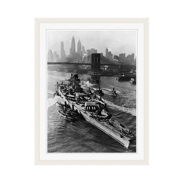 アートプリントジャパン 「ニューヨーク(1943年5月27日)」 フレーム/M/ホワイト 1枚