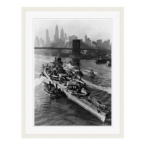 アートプリントジャパン 「ニューヨーク(1943年5月27日)」 フレーム/L/ホワイト 1枚