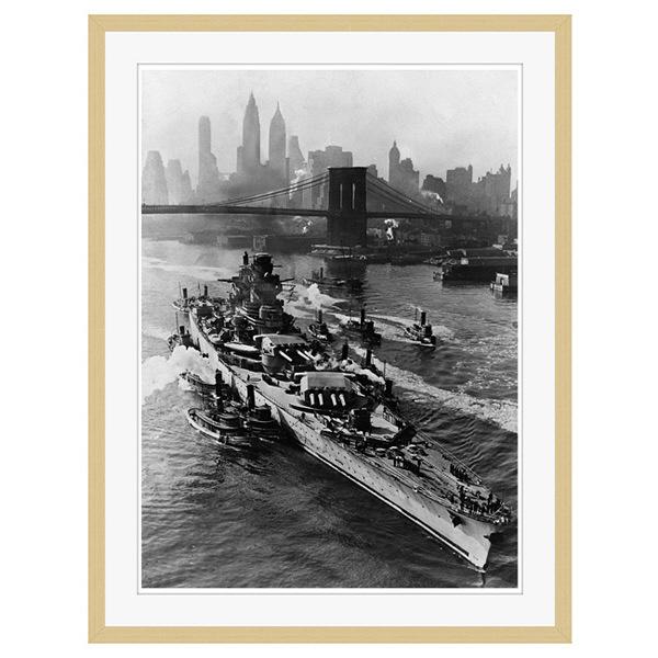 アートプリントジャパン 「ニューヨーク(1943年5月27日)」 フレーム/XL/木目 1枚