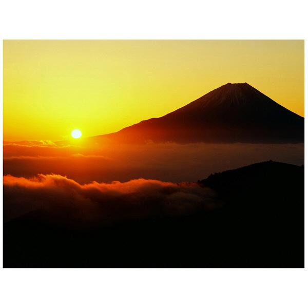 アートプリントジャパン 「丸山林道より望む富士山 日の出」 キャンバス/L 1枚