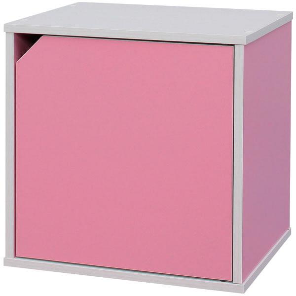 サイコロ型カラーボックス 扉付