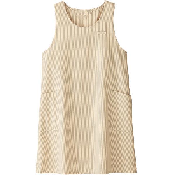 ボンマックス 胸当てエプロン ベージュ フリーサイズ FK7141-1(直送品)