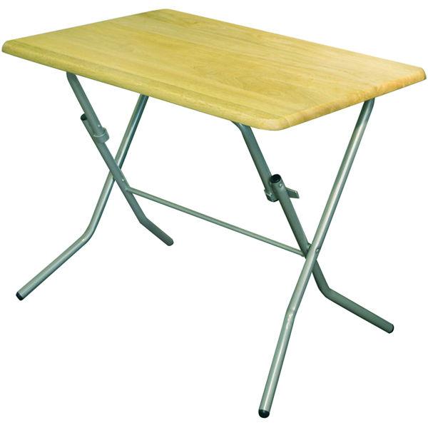 ルネセイコウ スタンドタッチテーブル ナチュラル/シルバー 幅900×奥行600×高さ700mm 1台 (直送品)