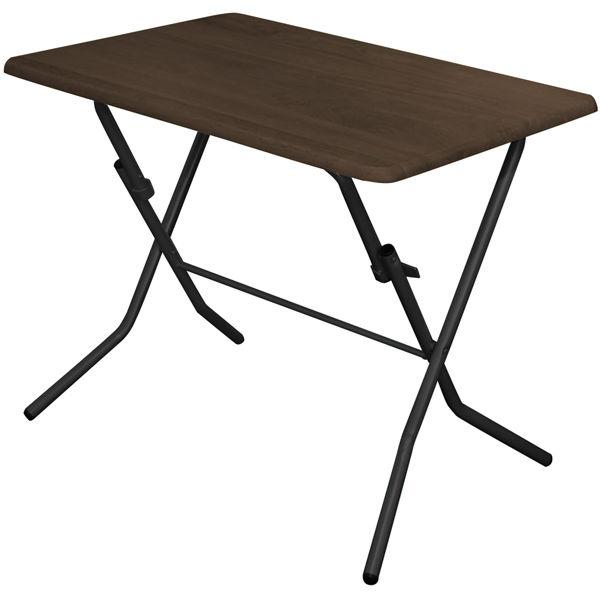 ルネセイコウ スタンドタッチテーブル ダークブラウン/ブラック 幅900×奥行600×高さ700mm 1台 (直送品)