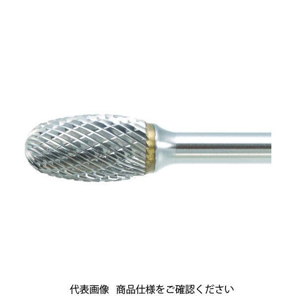TRUSCO 超硬バー タマゴ型 Φ6X刃長9.5X軸6 ロング シングルカット TB6C060SL150 436-5071(直送品)