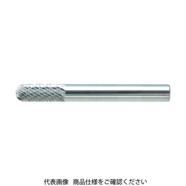 トラスコ中山(TRUSCO) TRUSCO 超硬バー 先丸円筒型 Φ4X刃長16X軸6 ダブルカット TB2C040 1本 436-3931(直送品)