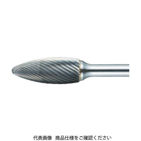 TRUSCO 超硬バー 楕円型 Φ8X刃長19X軸6 ロング シングルカット TB51C080SL150 436-4694(直送品)