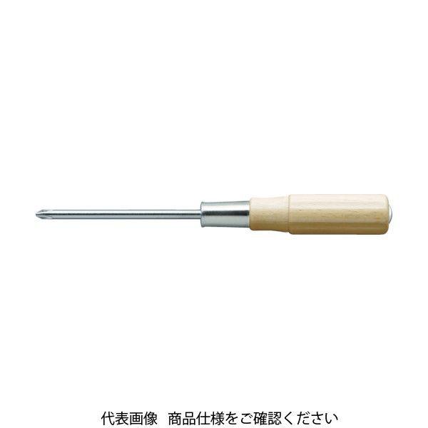 トラスコ中山(TRUSCO) TRUSCO 木柄貫通ドライバー 刃先+3 125mm TWKD-3-125 1本 449-9514(直送品)
