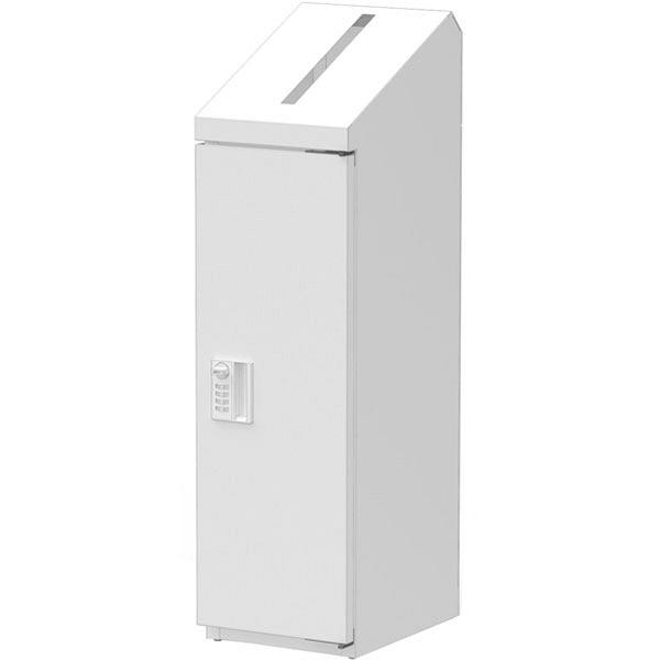 ぶんぶく 機密書類回収ボックススリムダイヤル錠仕様ホワイト (直送品)