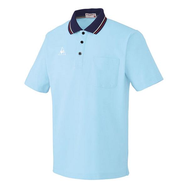 ルコックスポルティフ 介護ウェア ポロシャツ(男女兼用) アクア S UZL3011 (直送品)