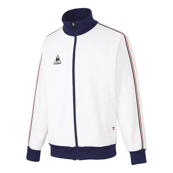ルコックスポルティフ 介護ウェア ジャケット(男女兼用) ホワイト L UZL1011 (直送品)