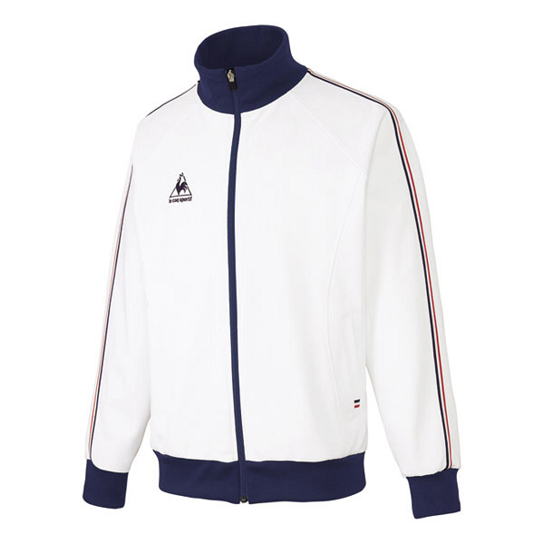 ルコックスポルティフ 介護ウェア ジャケット(男女兼用) ホワイト EL UZL1011 (直送品)