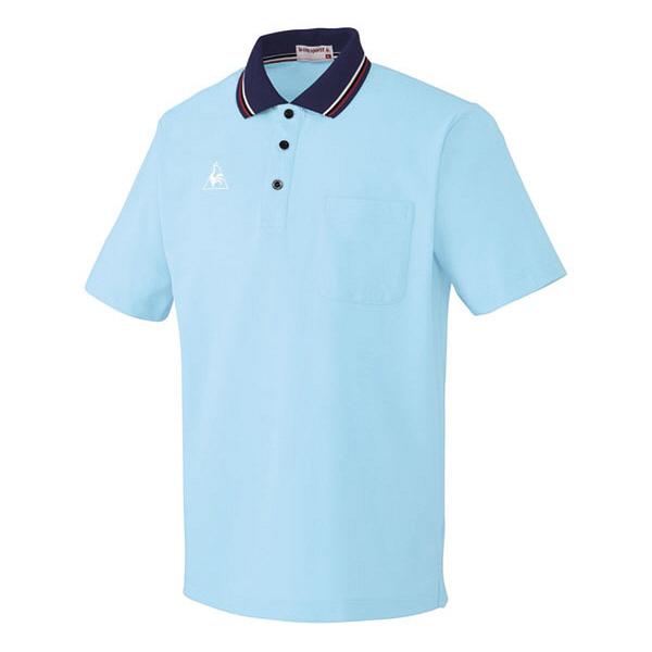 ルコックスポルティフ 介護ウェア ポロシャツ(男女兼用) アクア M UZL3011 (直送品)