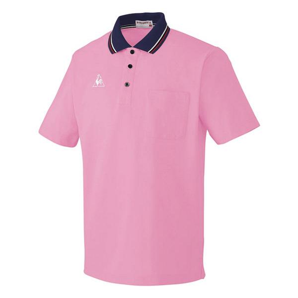ルコックスポルティフ 介護ウェア ポロシャツ(男女兼用) ピンク EL UZL3011 (直送品)