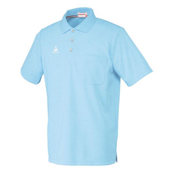 ルコックスポルティフ 介護ウェア ポロシャツ(男女兼用) アクア M UZL3013 (直送品)
