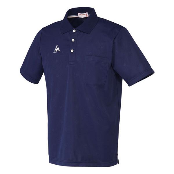 ルコックスポルティフ 介護ウェア ポロシャツ(男女兼用) ネイビー M UZL3013 (直送品)