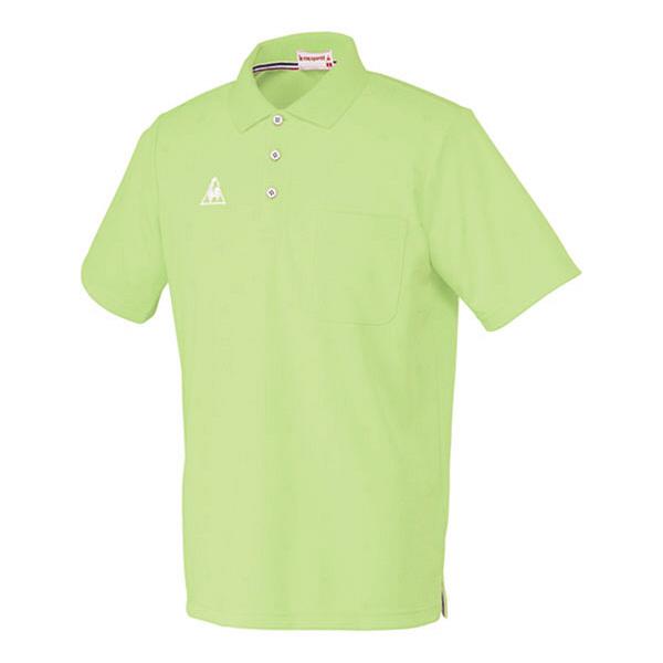 ルコックスポルティフ 介護ウェア ポロシャツ(男女兼用) 若草色 L UZL3013 (直送品)