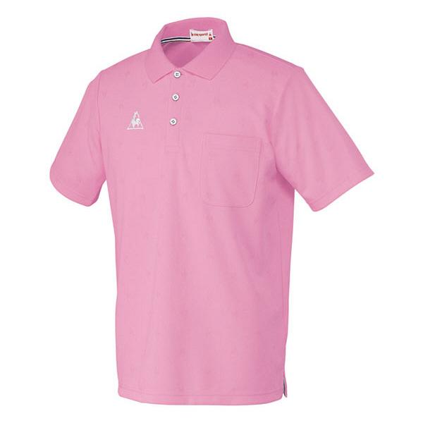 ルコックスポルティフ 介護ウェア ポロシャツ(男女兼用) ピンク L UZL3013 (直送品)