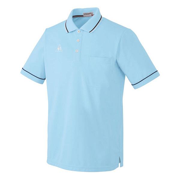 ルコックスポルティフ 介護ウェア ポロシャツ(男女兼用) アクアM UZL3021 (直送品)