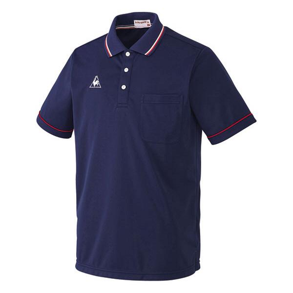 ルコックスポルティフ 介護ウェア ポロシャツ(男女兼用) ネイビー 13号 UZL3021 (直送品)