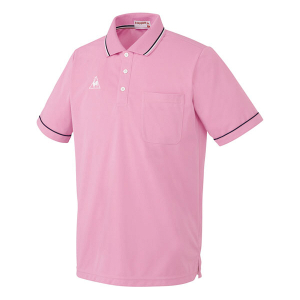 ルコックスポルティフ 介護ウェア ポロシャツ(男女兼用) ピンク L UZL3021 (直送品)