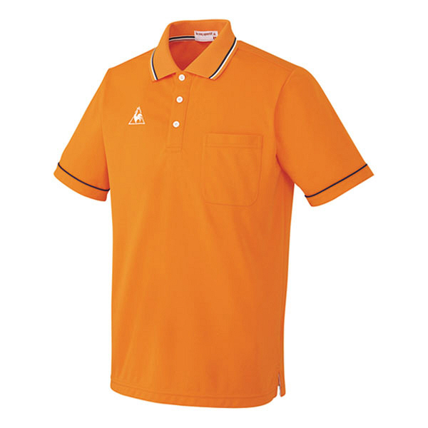 ルコックスポルティフ 介護ウェア ポロシャツ(男女兼用) オレンジ L UZL3021 (直送品)