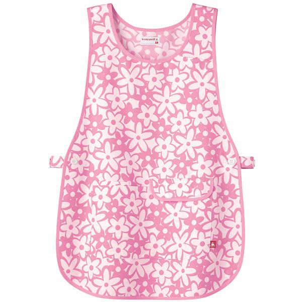 ルコックスポルティフ 介護ウェア 花柄ベストエプロンピンク フリーサイズUZL7023 (直送品)