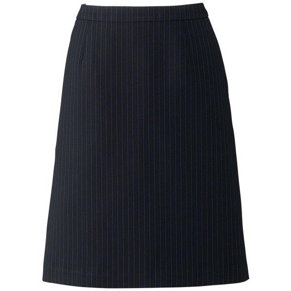 ボンマックス Aラインスカート ネイビー×グレイ 15号 AS2284-28-15 1着(直送品)