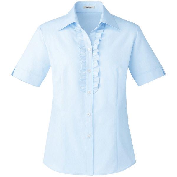 ボンマックス 半袖ブラウス ブルー 13号 RB4544-6-13 1着(直送品)