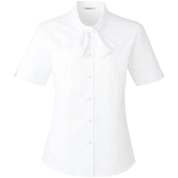 ボンマックス 半袖ブラウス ホワイト 15号 RB4545-15-15 1着(直送品)