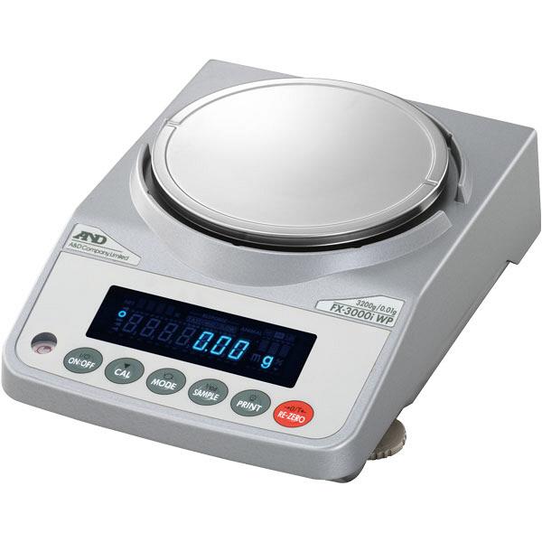 汎用電子天秤 防水・防塵 最大ひょう量1220g FX1200iWP エー・アンド・デイ (直送品)