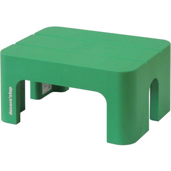 SANKA(サンカ) 踏台 ポリプロピレン デコラステップS グリーン 20cm DS-SG 1個 (直送品)